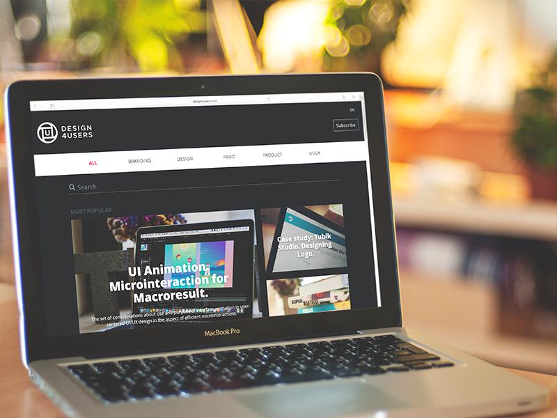 Design4Users product website blog branding design studio interface ux ui web design