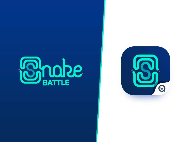 Snake Battle Logo identity branding app design app game lettering icon snake illustration design logo