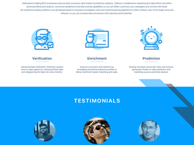 CalloSum Landing Page design studio illustration interface branding webdesign web ux ui landing page landing design