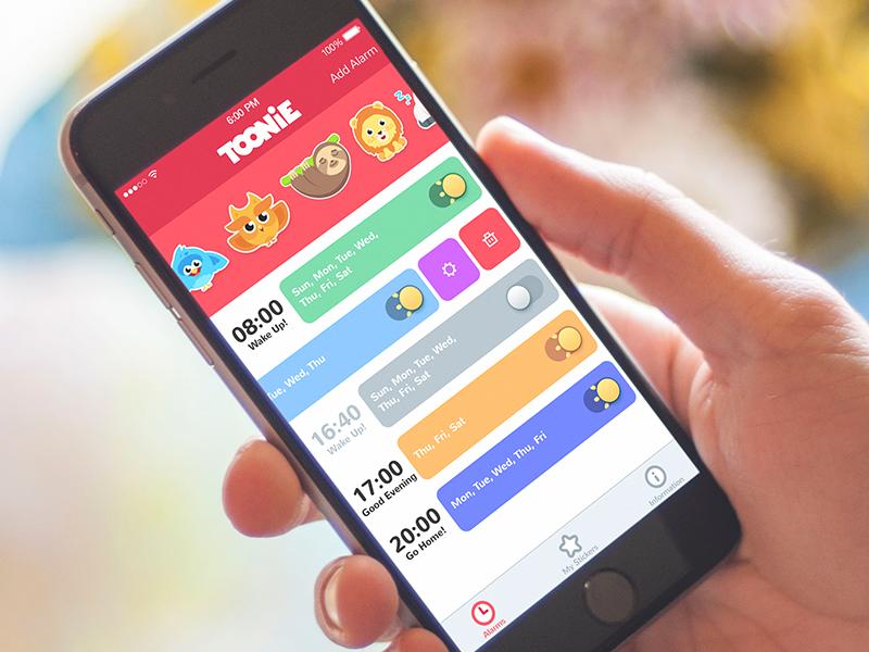 Toonie Alarm UI utilities flat graphic design illustration app design interface ux ui design alarm app