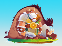 Ulf the viking game design character