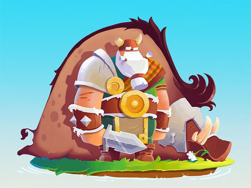Ulf the Viking game design studio graphic design design illustrator adobe digital art viking character illustration