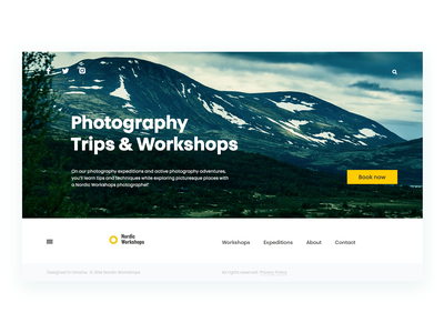 Photography Workshops minimalism design motion animation interface web design web landing photography ux ui