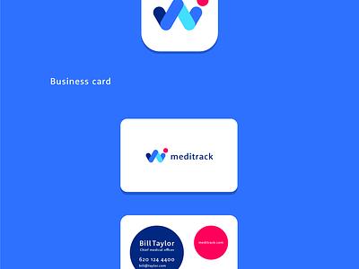Meditrack Logo app design medical app health design studio graphic design identity branding flat illustration logo