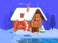 Christmas Spirit Illustration