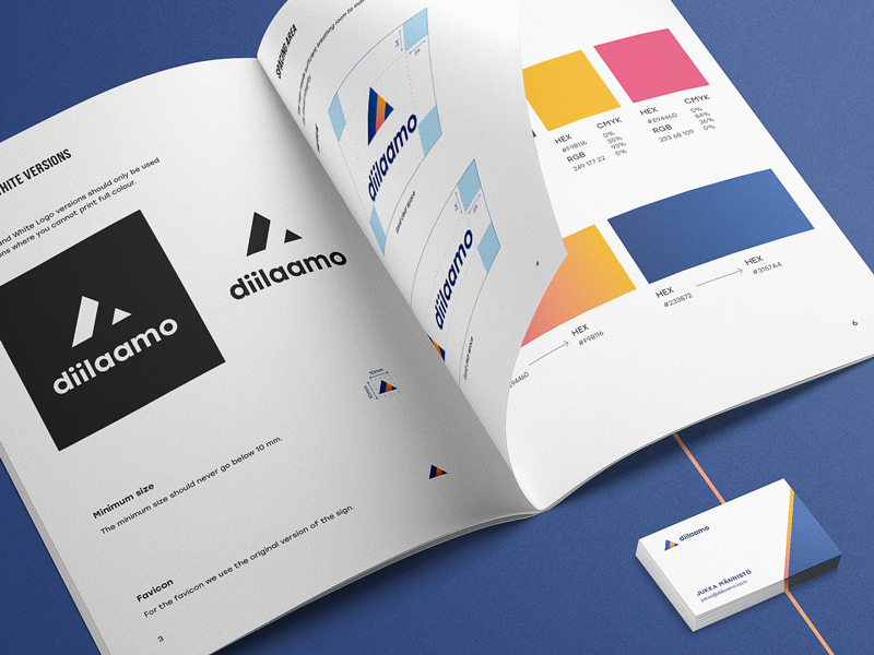 Diilaamo Style Guide design agency style guide graphic design identity branding logo design