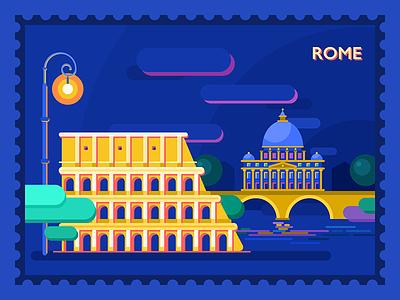 Buongiorno roma illustration tubik