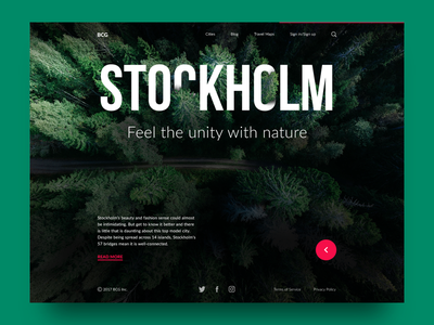 Big City Guide: Stockholm. design agency layout website nature landing travel interface ux ui web design
