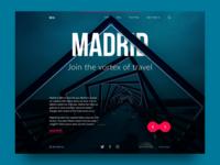 Big City Guide: Madrid. design agency layout website city landing travel interface ux ui web design