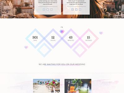 Wedding Theme website blog layout webdesign love graphic design ux ui wedding theme web design