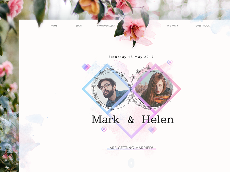 Wedding theme website ui design tubik