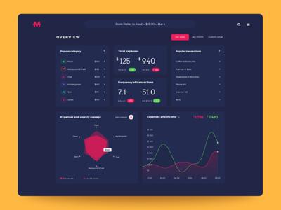 Home Budget App: Dashboard. finance manager database finance stats dashboard interface ux ui web app design