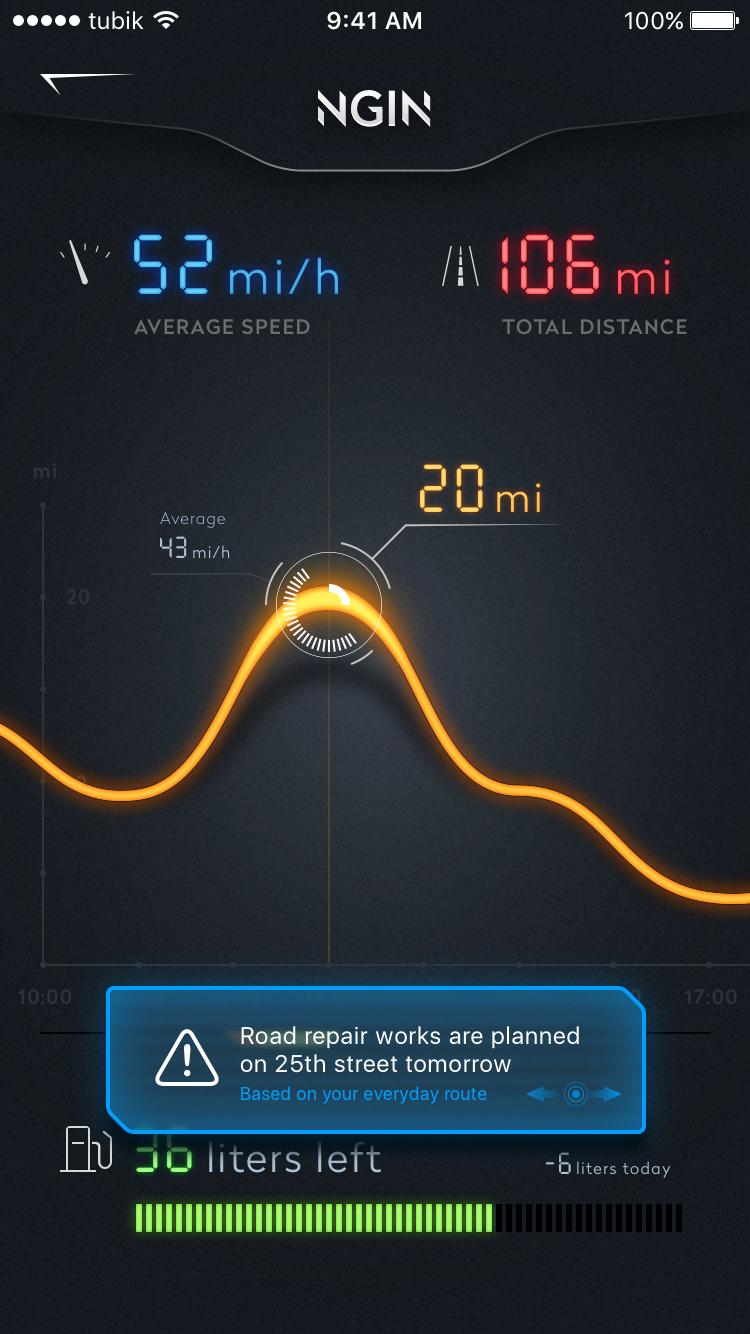 Ngin app car statistic ui tubik