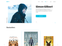 Online bookshop website design tubik
