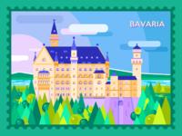 Guten tag bavaria flat illustration tubik