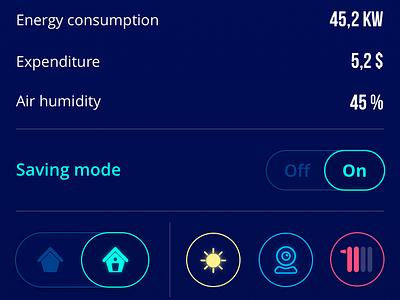 Homey App home app icons ios home control smart home interface ux ui mobile app design