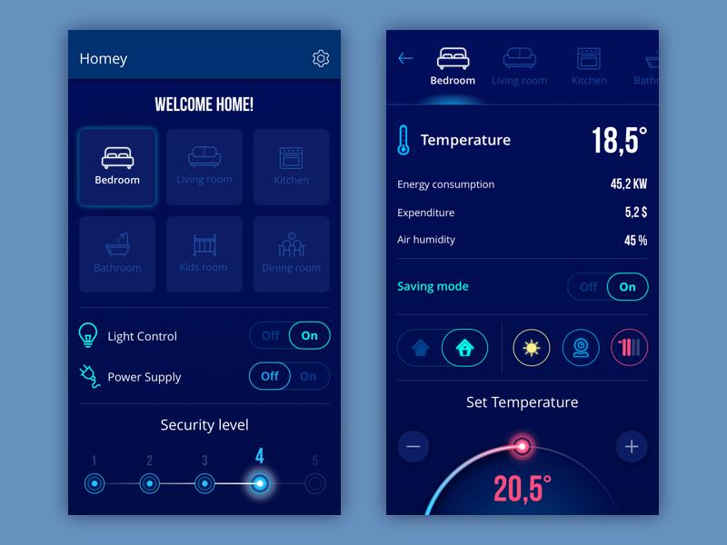 Homey App By Tubik Dribbble