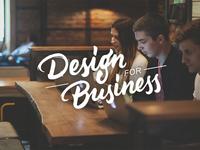 Design for Business design agency typography ux ui ecommerce lettering design for business graphic design design