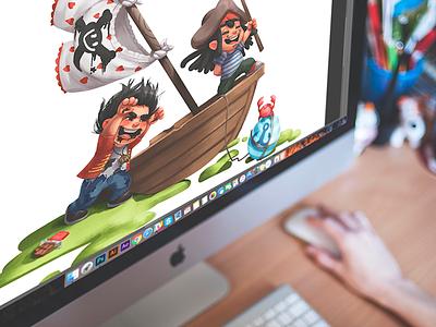 tubik.arts launch children movie character design cg pirates digital art illustration graphic design design