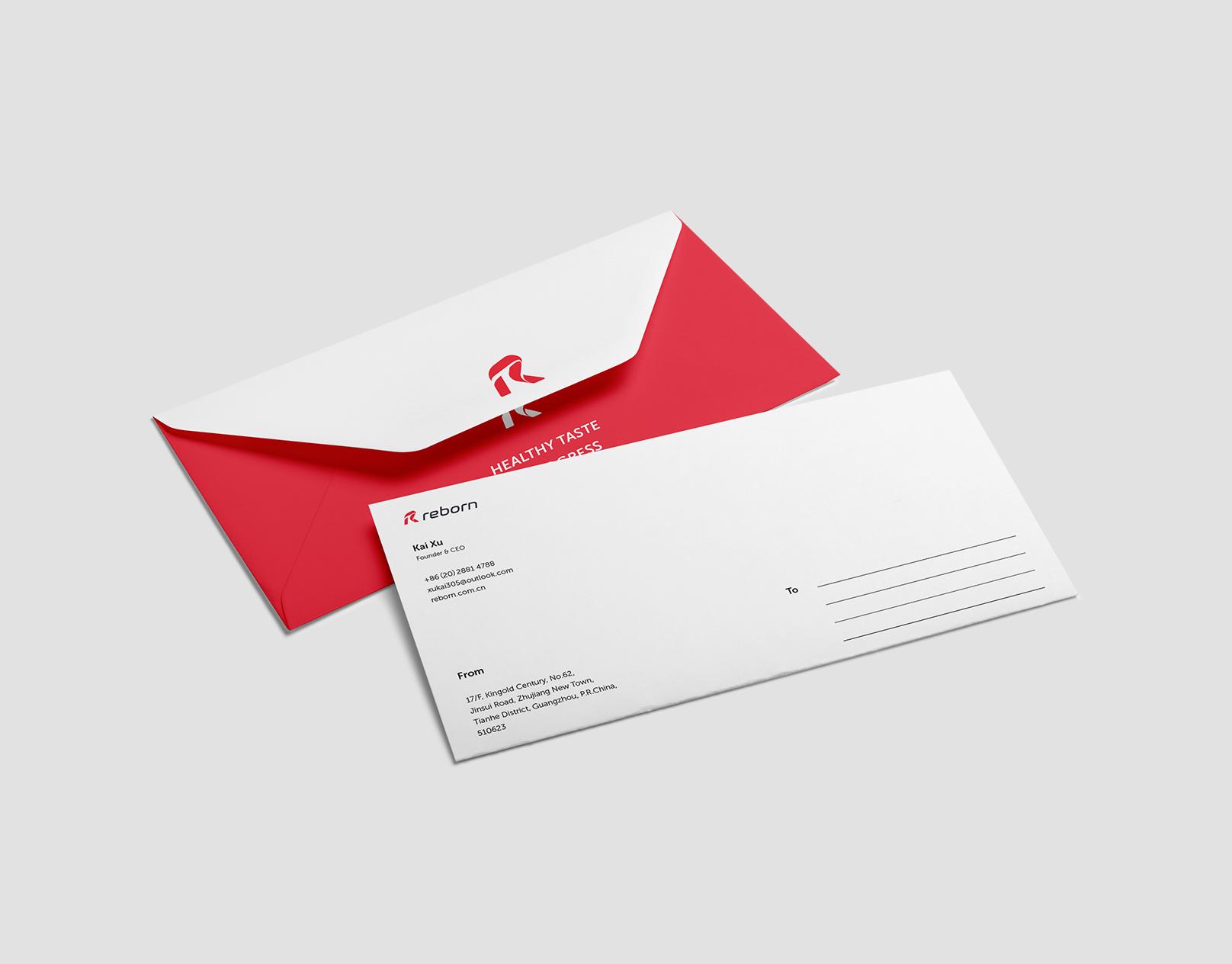 Tubik branding reborn envelope