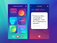 Tubik quoter app ui design