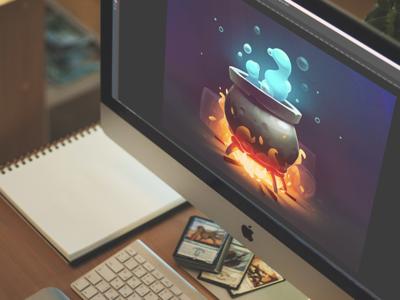 CG magic by tubik.arts design studio game graphics environment design cg magic pot digital art illustration graphic design design