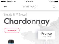 Tubik wineyard app description screen