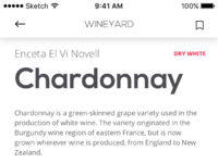 Tubik wineyard app description scroll screen