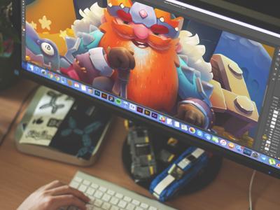 CG: Thorin Oakenshield. illustrator illustration graphic design digital art game art thorin hobbit cg character design