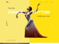 Dance academy landing page design tubik