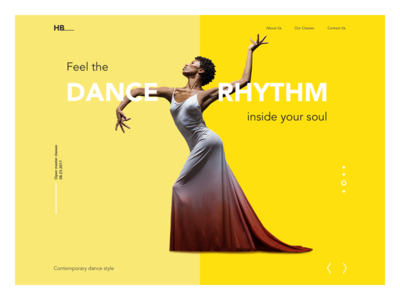 Dance Academy Landing Page design studio art website dancer landing page dance interface ux ui web design