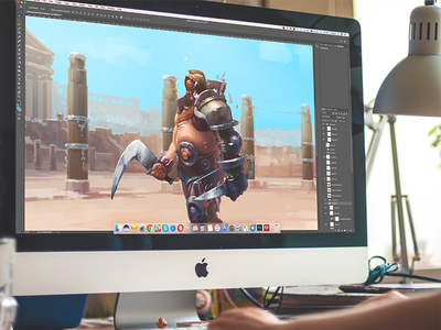 CG: Gladiator. warrior digital art cg game art environment character design gladiator illustration graphic design design