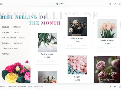 Florist E-Commerce Website creative agency material design minimal ukraine flat webdesign web product design ux ui