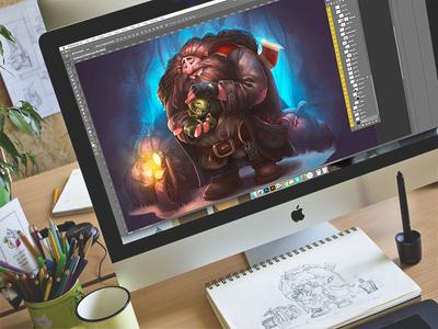 CG: Rubeus Hagrid. cg illustrator environment character hagrid harry potter book digital art illustration graphic design design