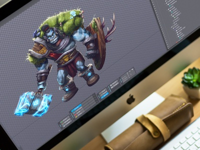 CG: Orc Animation. motion raster animation game graphics environment orc digital art character cg illustration graphic design design