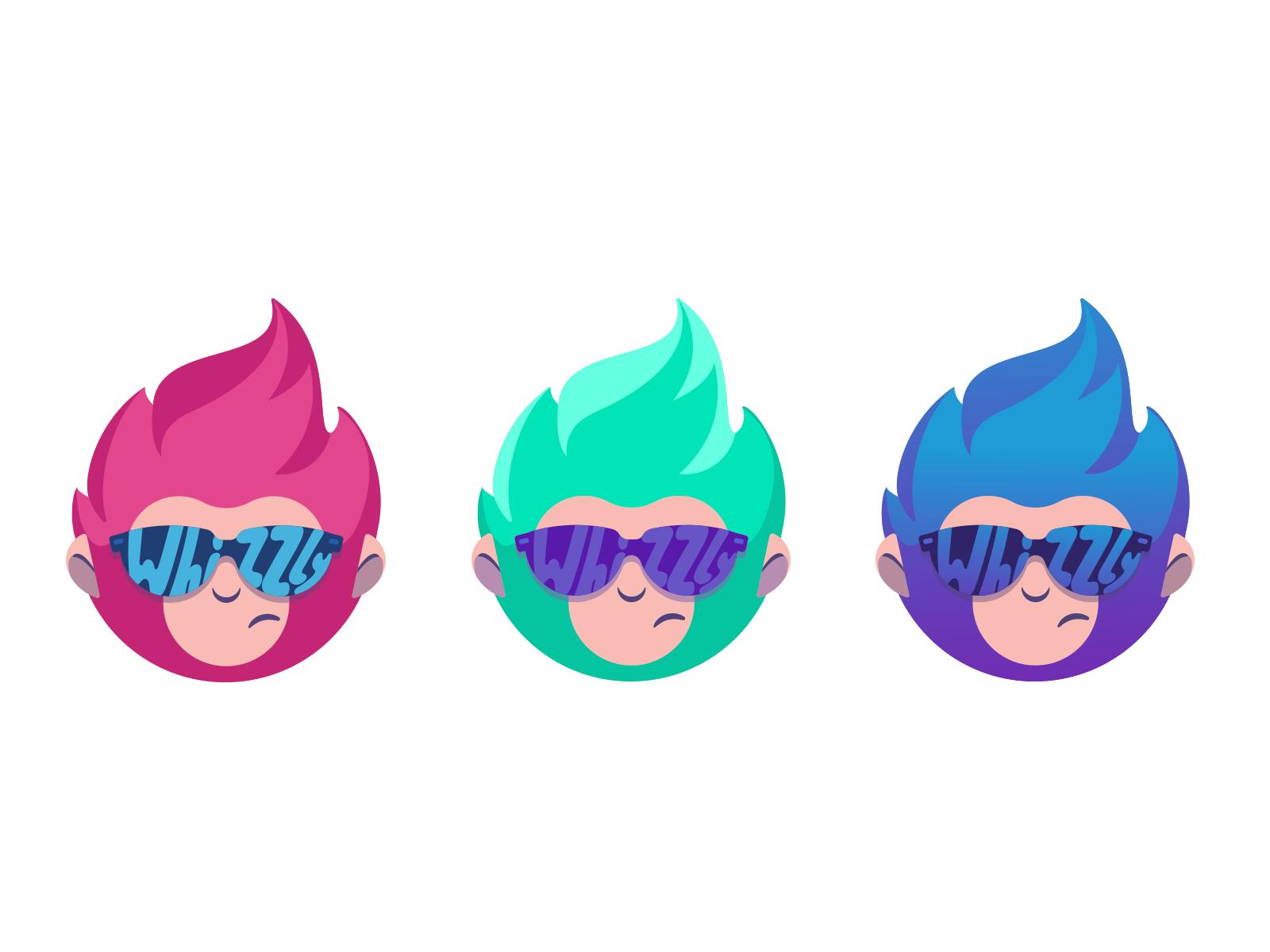 Whizzly logo design mascot tubik