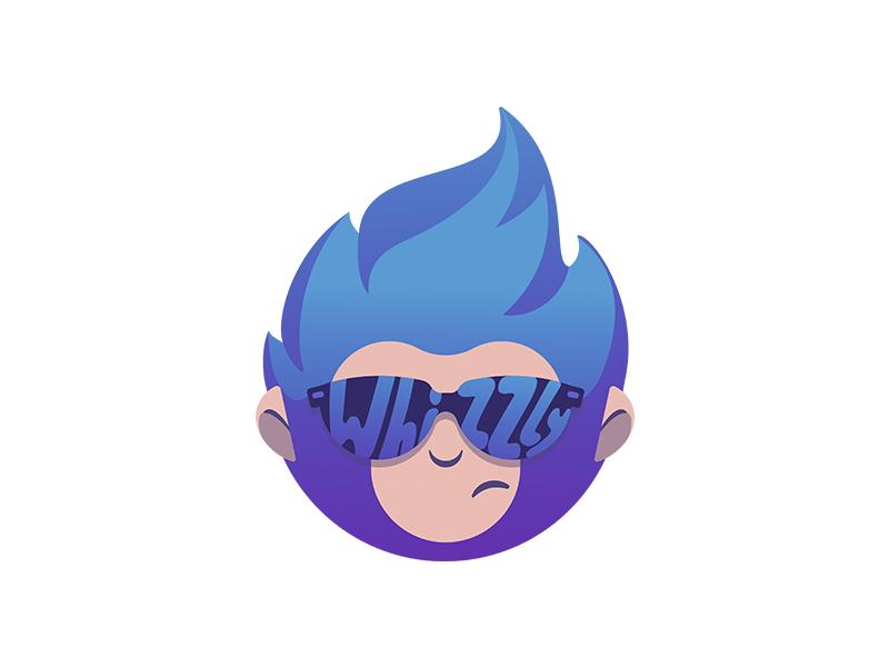 Whizzly Logo illustration app logo social character mascot logo identity branding graphic design design