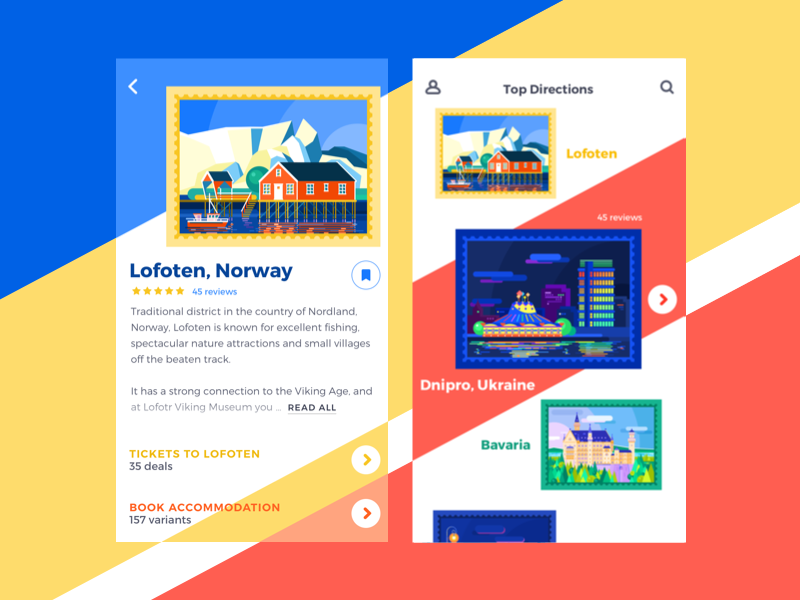 travel app ui design by tubik dribbble - Ui Design Ideas