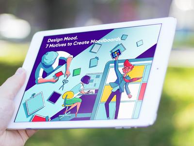 Mood Boards in Design mood board illustrator digital art character design process designer illustration graphic design design
