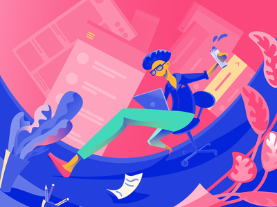 Creative UX ux ui illustrator work space digital art character designer illustration graphic design design