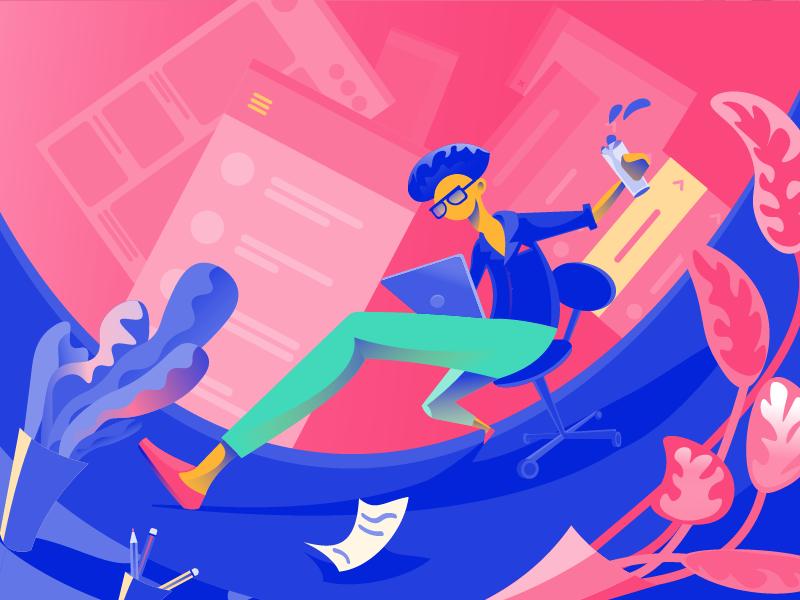 Creative ux design illustration tubik