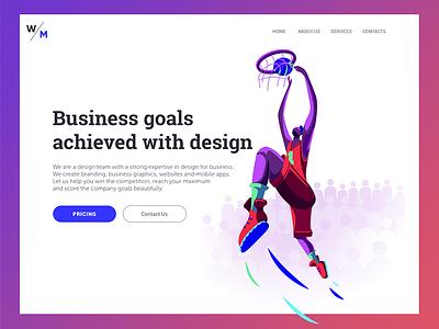 Digital Agency Landing Page website home page ux ui b2b business illustration graphic design web design design