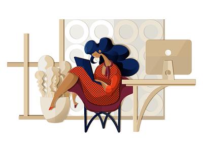 Design Never Stops ux ui illustrator work space digital art character designer illustration graphic design design