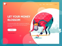 Financial service web design tubik