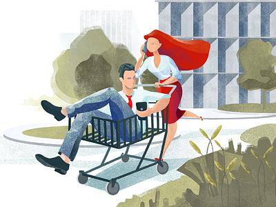 Shopping illustration tubik