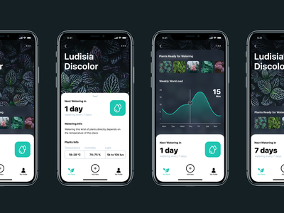 Watering Tracker App mobile app app design ui animation watering user interface user experience design studio graphic design task tracker nature home ux ui animation motion interaction interface mobile app design
