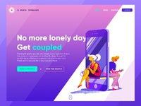 Ui landing page dating app tubik
