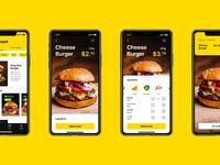 Burger app ui design tubik