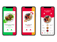 Vegan recipe app ui tubik