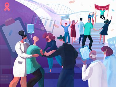 World cancer day illustration tubik
